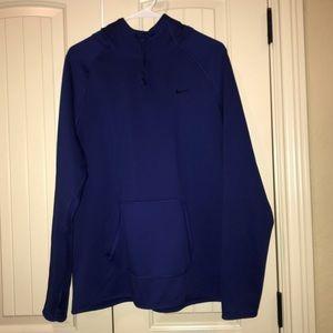 Royal Blue Nike Dry Fit Pullover Hoodie